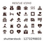 rescue icon set. 30 filled... | Shutterstock .eps vector #1273298833