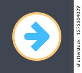 arrow sign in a round icon. web ... | Shutterstock .eps vector #1273304029