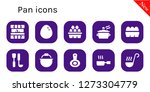 pan icon set. 10 filled pan... | Shutterstock .eps vector #1273304779