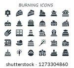 burning icon set. 30 filled... | Shutterstock .eps vector #1273304860