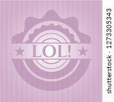 lol  retro pink emblem   Shutterstock .eps vector #1273305343