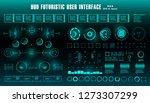 sci fi futuristic hud dashboard ... | Shutterstock .eps vector #1273307299