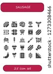 sausage icon set. 25 filled... | Shutterstock .eps vector #1273308466