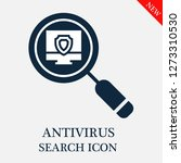 antivirus search icon. editable ... | Shutterstock .eps vector #1273310530