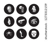 9 vector icon set   myopia ... | Shutterstock .eps vector #1273312159