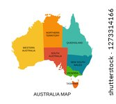 australia map with regions.... | Shutterstock .eps vector #1273314166