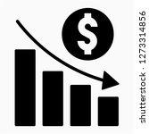 glyph dollars recession pixel... | Shutterstock .eps vector #1273314856