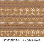 primitive berber signs pattern... | Shutterstock .eps vector #1273318636
