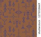 primitive berber signs pattern... | Shutterstock .eps vector #1273318669
