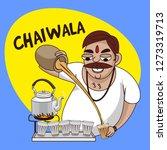 chai wala cartoon character... | Shutterstock .eps vector #1273319713