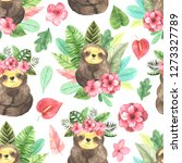 seamless pattern with... | Shutterstock . vector #1273327789