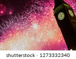 new year's eve fireworks in... | Shutterstock . vector #1273332340