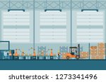 smart industrial factory in a... | Shutterstock .eps vector #1273341496