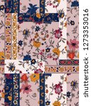 Stock photo leaf flower pattern 1273353016