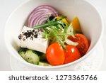 greek salad with feta | Shutterstock . vector #1273365766