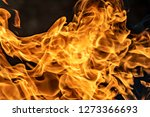 fire flames on black background ... | Shutterstock . vector #1273366693