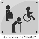 toilet sign icon. disabled... | Shutterstock .eps vector #1273369309