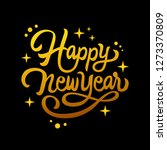 happy new year lettering... | Shutterstock .eps vector #1273370809