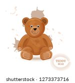 teddy bear isolated vector... | Shutterstock .eps vector #1273373716