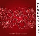 happy valentine's day... | Shutterstock .eps vector #1273379329