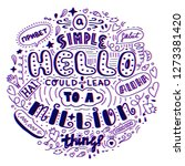 lettering simple hello in... | Shutterstock .eps vector #1273381420