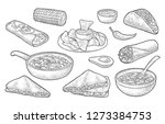 mexican traditional food set... | Shutterstock .eps vector #1273384753