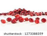 dried red cranberries blueberry | Shutterstock . vector #1273388359