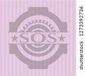sos retro style pink emblem | Shutterstock .eps vector #1273392736
