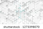 abstract white hexagons surface ... | Shutterstock . vector #1273398070