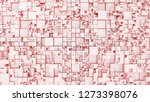 light coral background.... | Shutterstock . vector #1273398076
