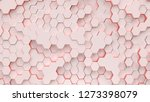 light coral background with... | Shutterstock . vector #1273398079