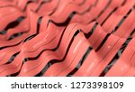 living coral color wavy... | Shutterstock . vector #1273398109