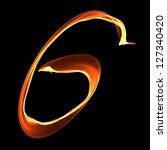 fire font letter g on black... | Shutterstock .eps vector #127340420