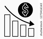 outline dollars recession pixel ... | Shutterstock .eps vector #1273416163