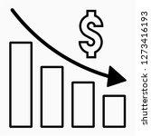 outline dollars recession pixel ... | Shutterstock .eps vector #1273416193