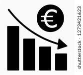 outline euro recession pixel... | Shutterstock .eps vector #1273421623