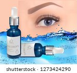 eye drops in glass vial with... | Shutterstock .eps vector #1273424290
