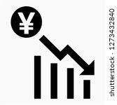 outline yen recession pixel... | Shutterstock .eps vector #1273432840
