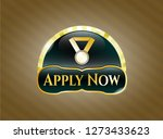 gold shiny badge with medal...   Shutterstock .eps vector #1273433623