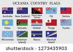flag set of oceania countries | Shutterstock .eps vector #1273435903