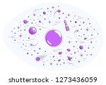 fantastic planets in... | Shutterstock .eps vector #1273436059