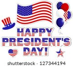 president's day background with ... | Shutterstock . vector #127344194