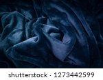 fleece fabric wellsoft blue | Shutterstock . vector #1273442599