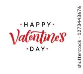 happy valentines day romantic... | Shutterstock .eps vector #1273443676