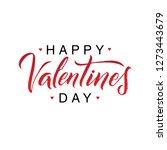 happy valentines day romantic... | Shutterstock .eps vector #1273443679