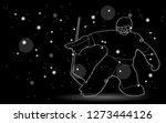 hockey player silhouette on... | Shutterstock . vector #1273444126