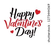 happy valentines day lettering... | Shutterstock .eps vector #1273444369
