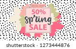 spring sale typography promo... | Shutterstock .eps vector #1273444876