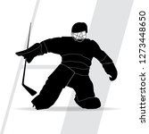 vector silhouette of a hockey... | Shutterstock .eps vector #1273448650