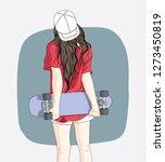 Women Standing Skateboarding I...